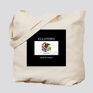 Flag of Illinois, land of lincoln Tote Bag