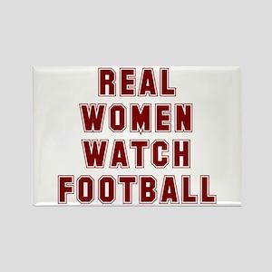 Real women watch football Rectangle Magnet