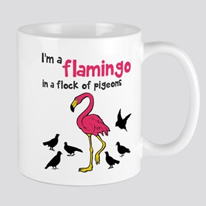 Flamingo Flock of Pigeons Mug