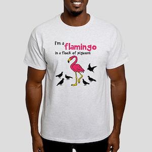 Flamingo Flock of Pigeons Light T-Shirt