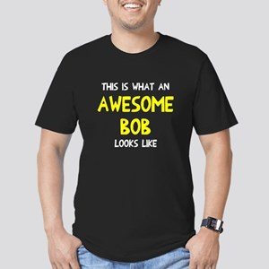 Awesome Bob looks like Men's Fitted T-Shirt (dark)
