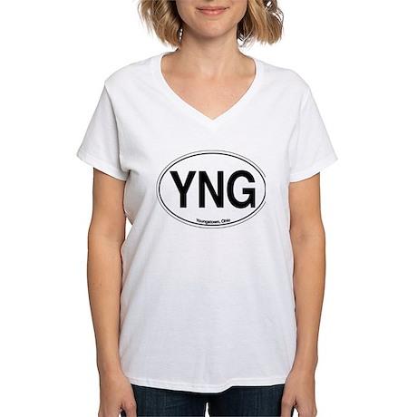YNG Women's V-Neck T-Shirt
