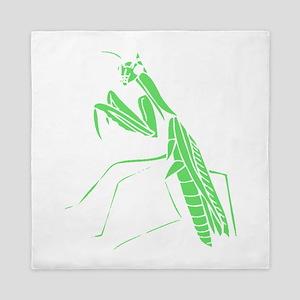 Green Preying Mantis Queen Duvet