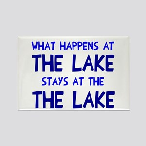 Happens at lake stays Rectangle Magnet