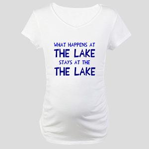 Happens at lake stays Maternity T-Shirt
