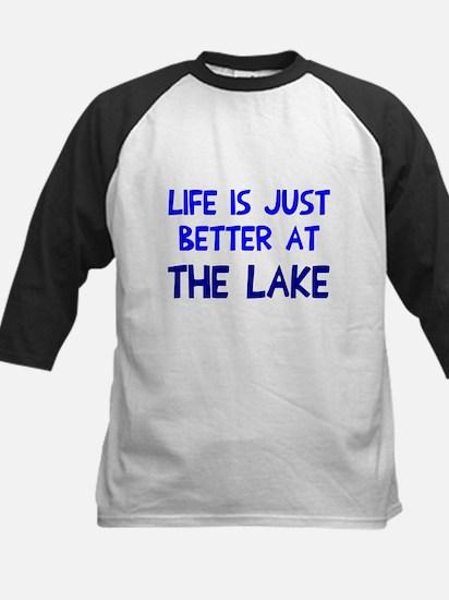 Life is just better lake Kids Baseball Jersey