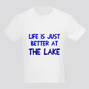 Life is just better lake Kids Light T-Shirt