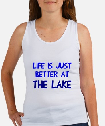 Life is just better lake Women's Tank Top