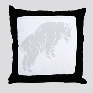 Grey Mountain Goat Throw Pillow