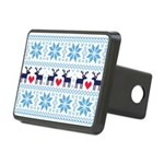 Merry Christmas pattern 2 Rectangular Hitch Cover