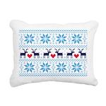 Merry Christmas pattern 2 Rectangular Canvas Pillo