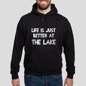 Life is just better lake Hoodie (dark)