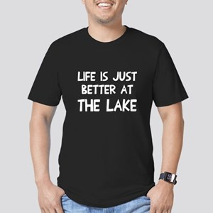 Life is just better la Men's Fitted T-Shirt (dark)