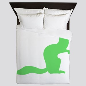 Green Mongoose Queen Duvet