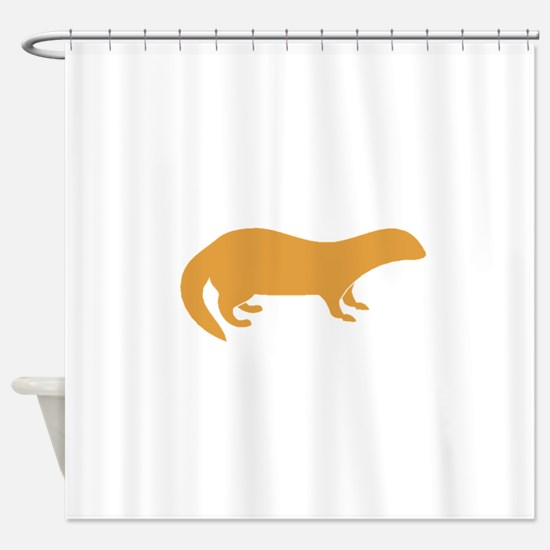 Brown Mongoose Shower Curtain
