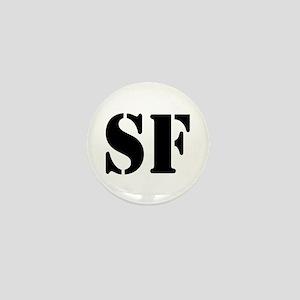 SF White Mini Button