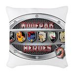 WooFPAK Heroes Emblem Woven Throw Pillow