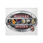WooFPAK Heroes Emblem Throw Blanket