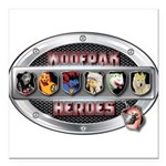 WooFPAK Heroes Emblem Square Car Magnet 3