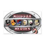 WooFPAK Heroes Emblem Rectangle Car Magnet