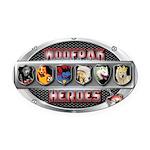 WooFPAK Heroes Emblem Oval Car Magnet