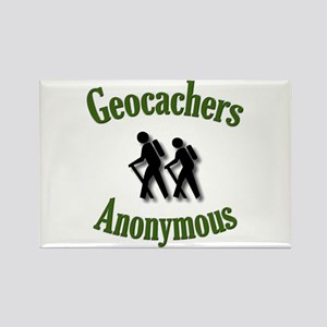 Geocachers Anonymous Rectangle Magnet