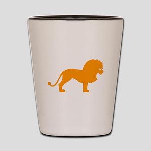Orange Lion Shot Glass
