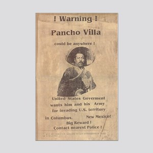 Pancho Villa Warning Poster Print