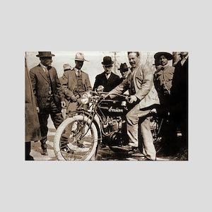 Pancho Villa Moto Mexican War Rectangle Magnet