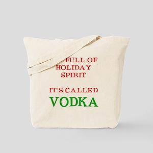 Holiday Spirit Vodka Tote Bag