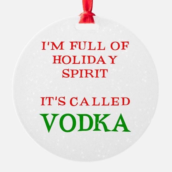 Holiday Spirit Vodka Ornament