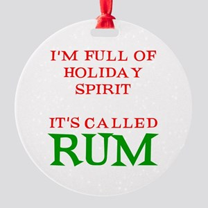 Holiday Spirit Rum Round Ornament