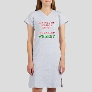 Holiday Spirit Whiskey Women's Nightshirt
