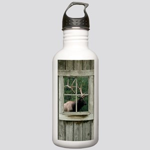 Old wood cabin window Stainless Water Bottle 1.0L
