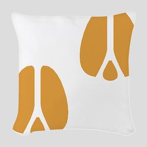 Brown Hoofprints Woven Throw Pillow