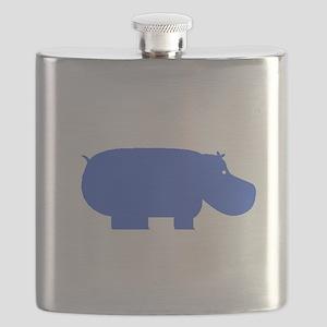 Blue Hippopotamus Flask