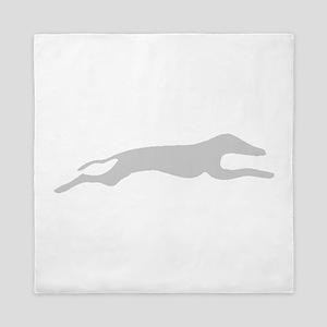 Grey Greyhound Queen Duvet