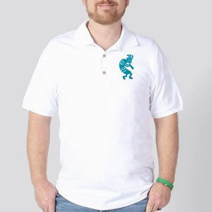 Kokopelli (aqua) Golf Shirt