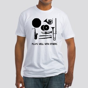 Band plays well with others Fitted T-Shirt