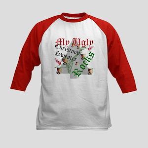 My Ugly Christmas Sweater Rocks Baseball Jersey