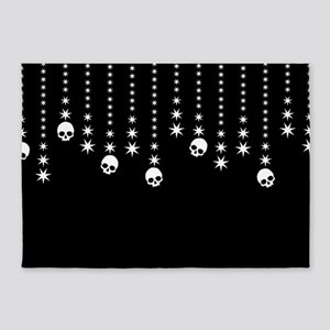 Skull Dangles Gothic Holiday 5'x7'Area Rug