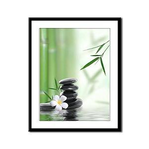 Zen Reflection Framed Panel Print