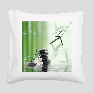 Zen Reflection Square Canvas Pillow