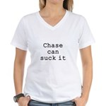 Chase Can Suck It Women's V-Neck T-Shirt