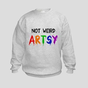 Not weird artsy Kids Sweatshirt