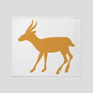 Brown Gazelle Throw Blanket