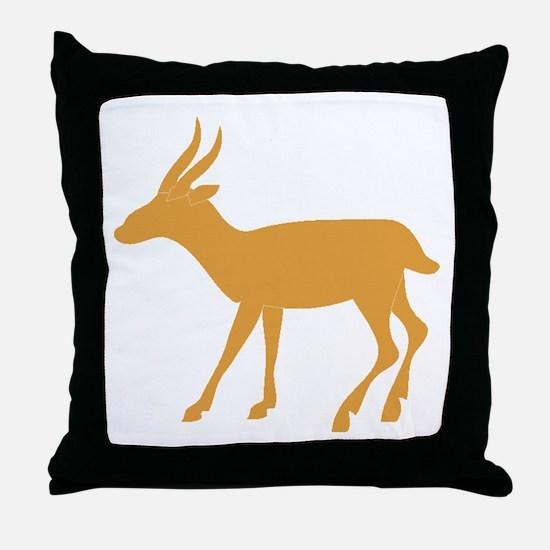 Brown Gazelle Throw Pillow
