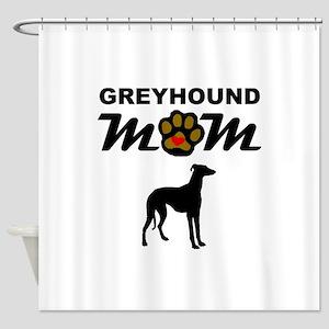 Greyhound Mom Shower Curtain