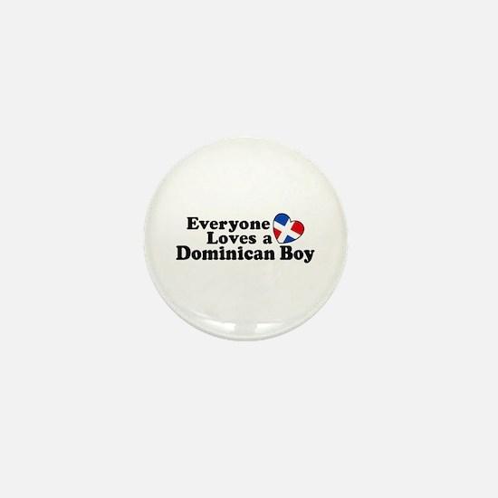 Everyone Loves a Dominican Boy Mini Button