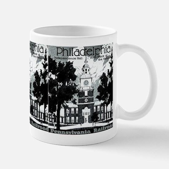 Visit Philadelphia on the PRR Mug